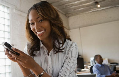 The Psychology Of Texting  - black woman girl texting