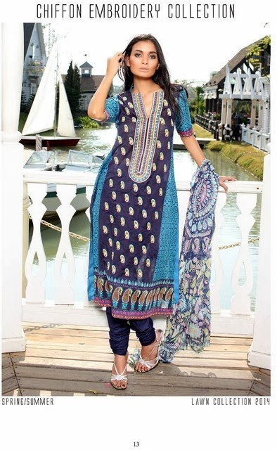Chiffon Embroidered Lawn Prints