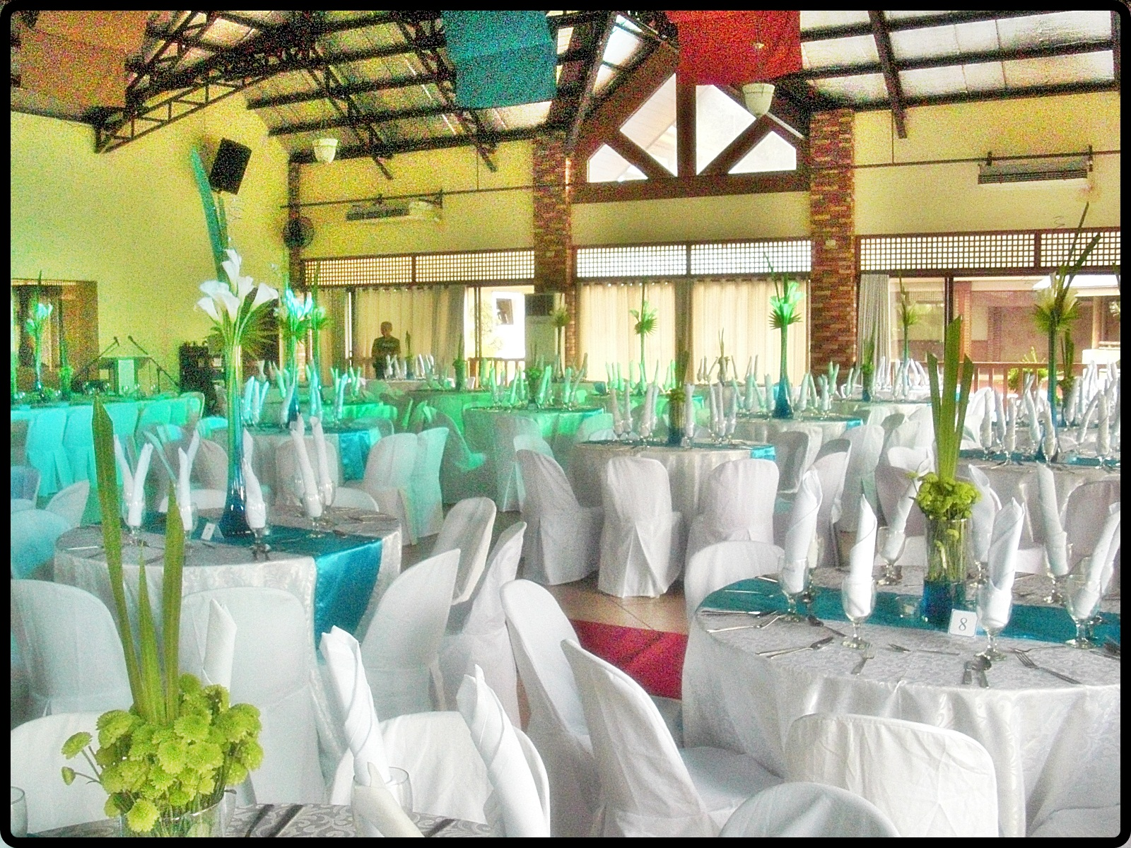 Weddings By Dexianic Foodservices Aqua Blue And Green Wedding Reception