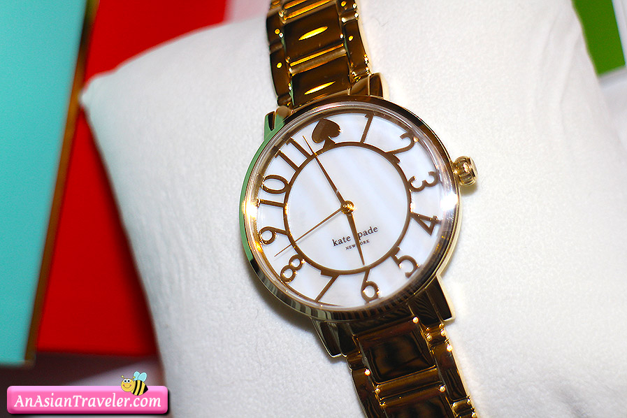 kate spade new york gramercy mother-of-pearl bracelet watch