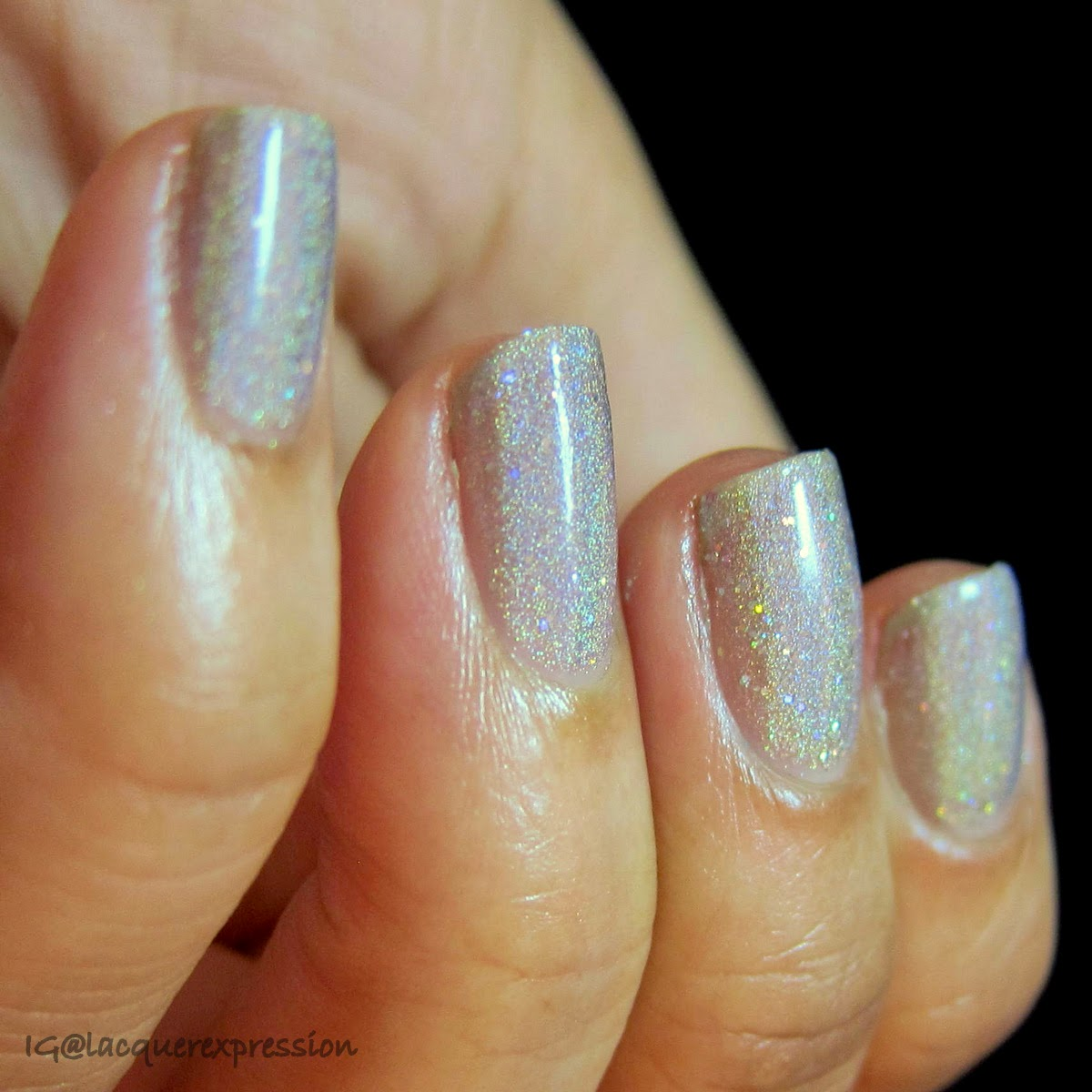 swatch of mirrorball nail polish by orly