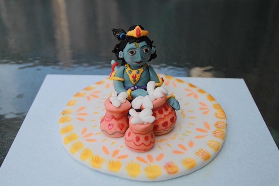 Cake Images For Krishna : DHANYA S DELIGHTS: Baby Krishna Cake