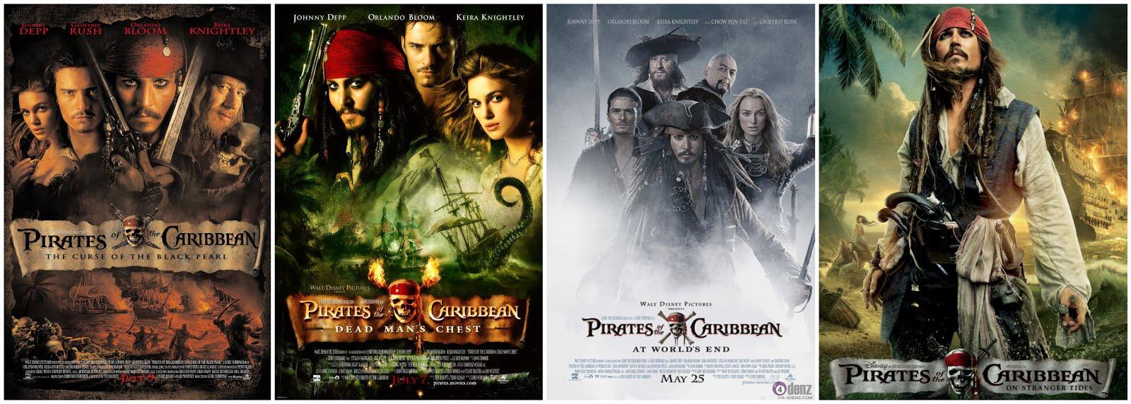 Întreaga serie Pirații din Caraibe, în aprilie, pe AXN