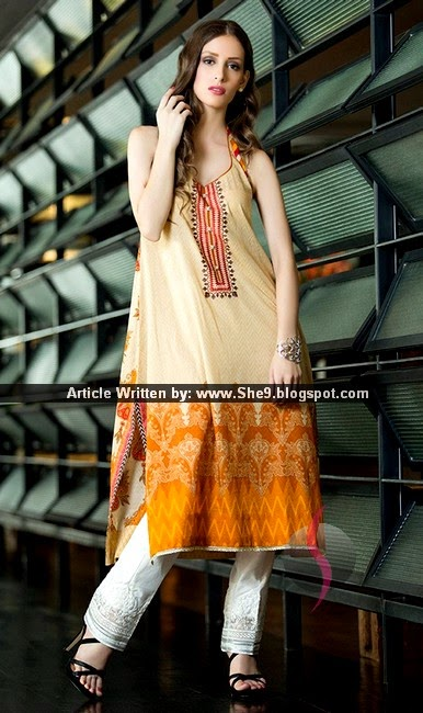 Orient Embroidered Printed Lawn Kurti 2015