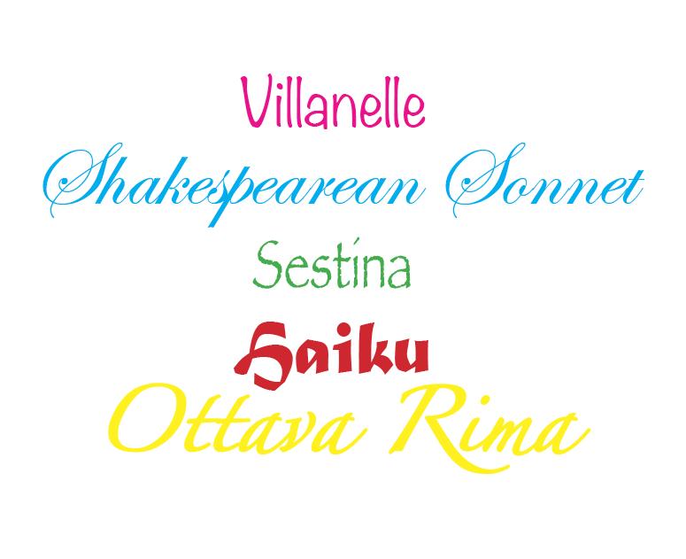 villanelle poem topics