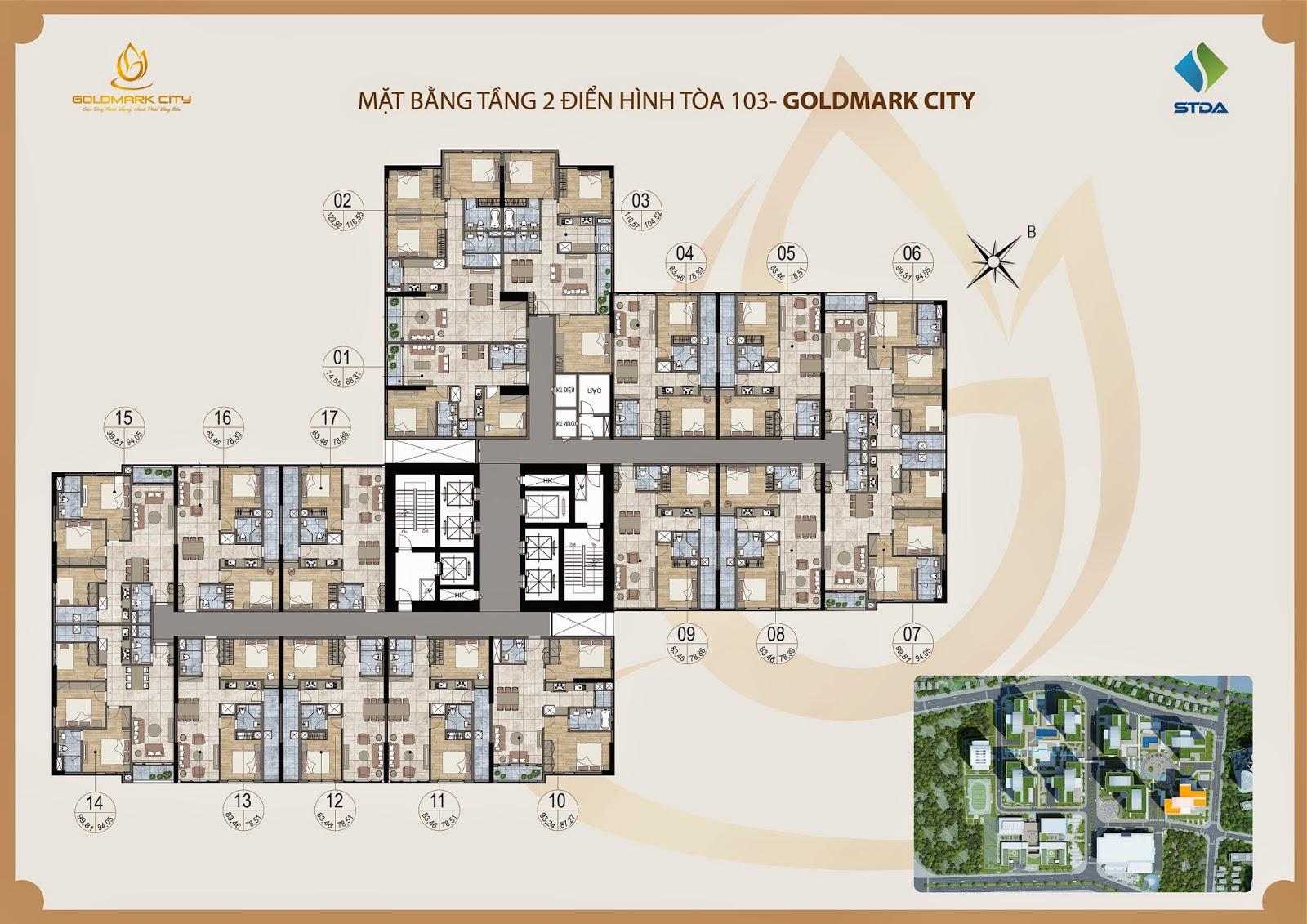 Chung Cư Goldmark City Tòa 10267