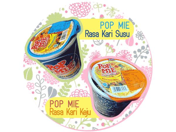 Pop Mie Rasa Kari Susu dan Kari Keju baru.