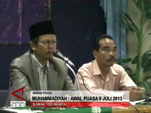 Pengumuman Penetapan Awal Puasa Ramadhan 2013 M 1434 H (Hasil Hisab Muhammadiyah)