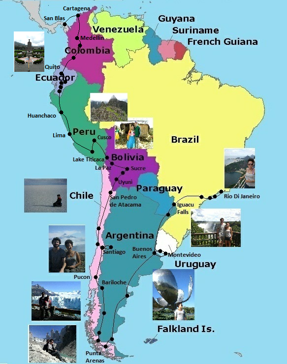 South America Travelling Map: South America Travel Map At Codeve.org