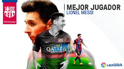 Lionel Messi, pemain dan Penyerang terbaik Laliga