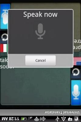 Google Universal Translator app for android