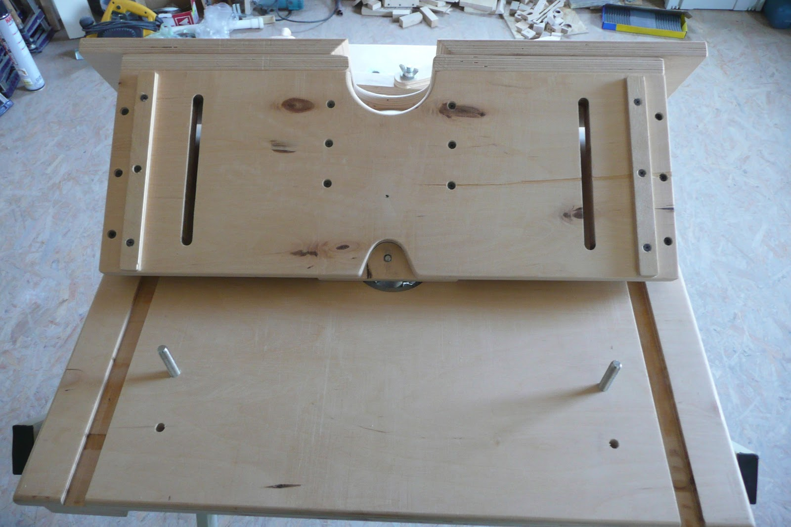 Router table for Mesa fresadora casera