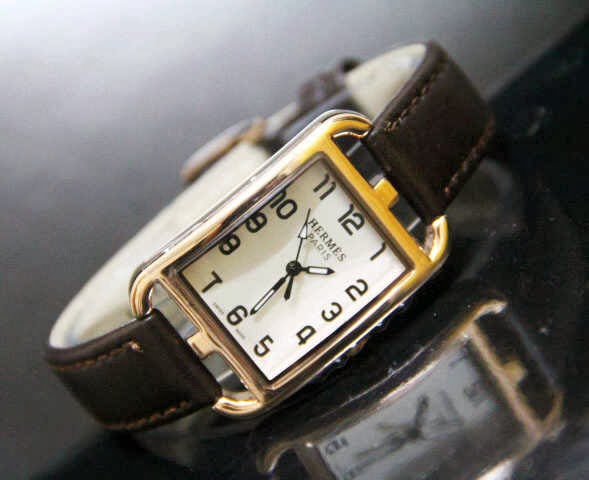 Jam Tangan Hermes 9809 Leather Coklat
