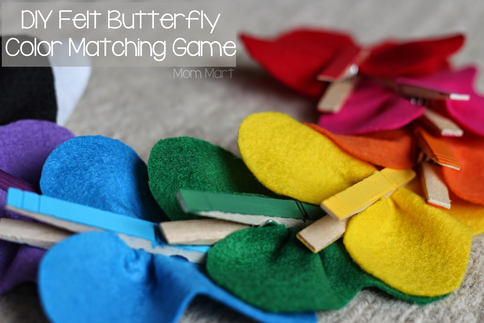Felt Butterfly Color Matching Game #DIY #Education #GamesForKids #TeachColor