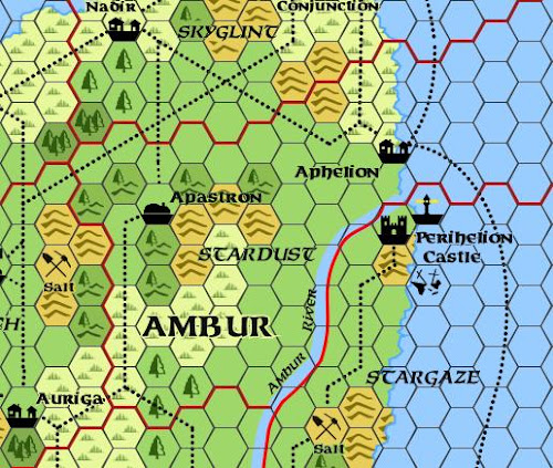 Mystara Alphatia Ambur Hex Map