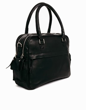 Selected Leather Bag In Black