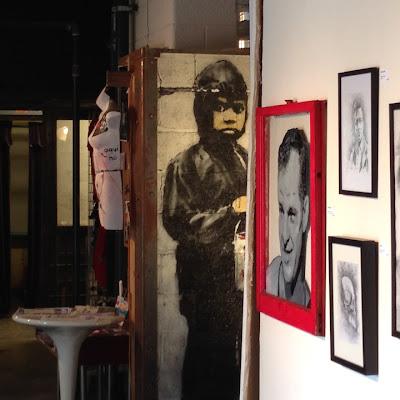 Banksy painting  555 Gallery Detroit, Michigan