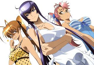 Highschool of the Dead HOTD Rei Miyamoto Saeko Busujima Saya Takagi Anime SexyHot Girls Cleavage HD Wallpaper Desktop Background