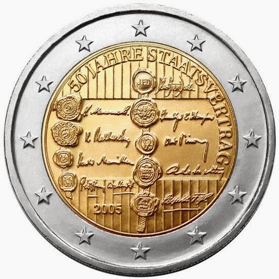2 euro Austria 2005, Austrian State Treaty