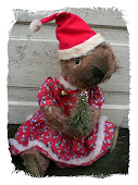 Christmas Mohair Bear
