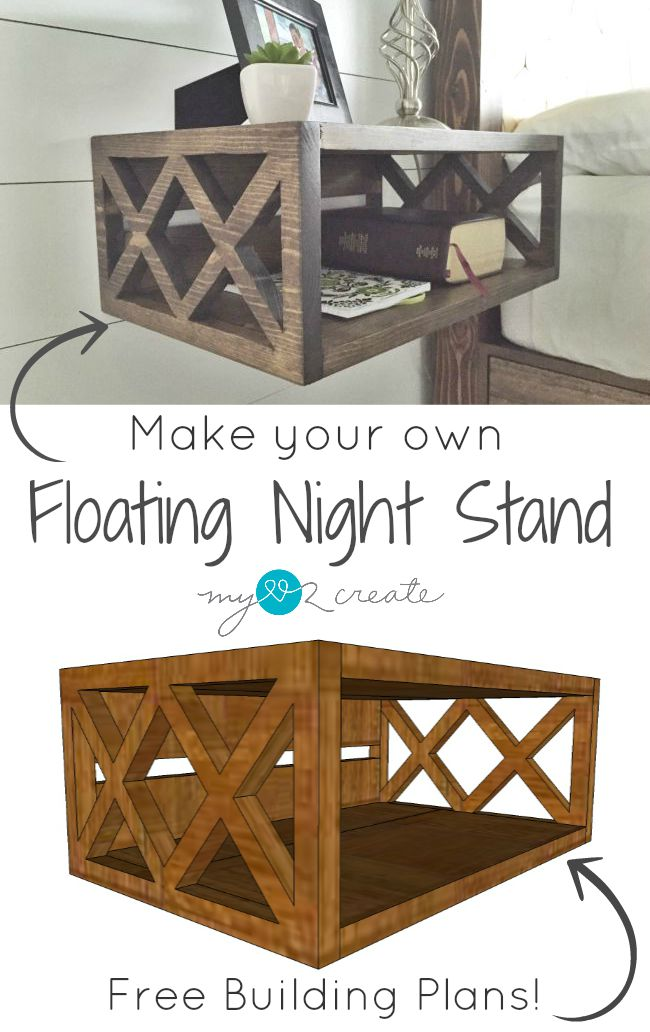 Night Stand Designs : Floating night stand building plans and a one board