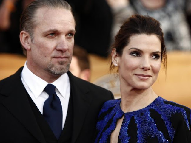 Split ... Sandra Bullock (r) and ex-husband Jesse James in 2010. Picture: SuppliedSource:News Limited