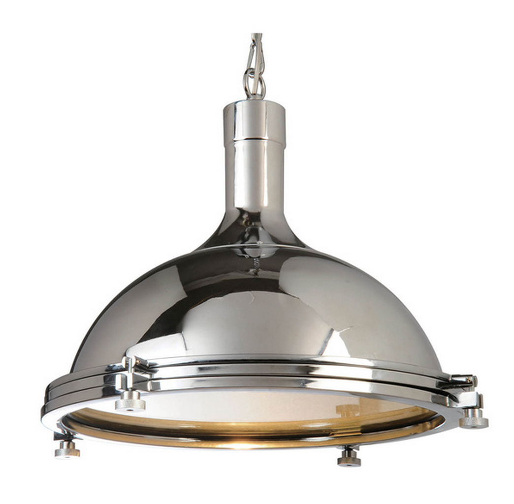 OVERSTOCK CHROME 1-LIGHT CEILING LAMP