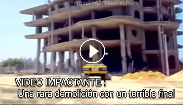 VIDEO IMPACTANTE - Una rara demolición con un terrible final