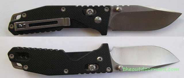 SanRenMu GB-763 Pocket Knife - Split View Open