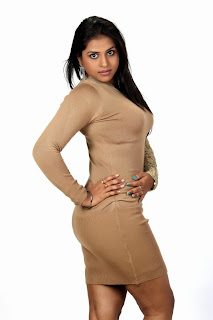 Hemlatha in Spicy Cute HQ Pics in Brown Tight Full Dress