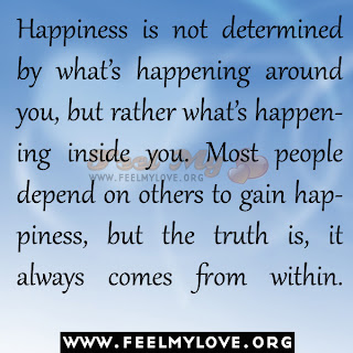 Happiness is not determined