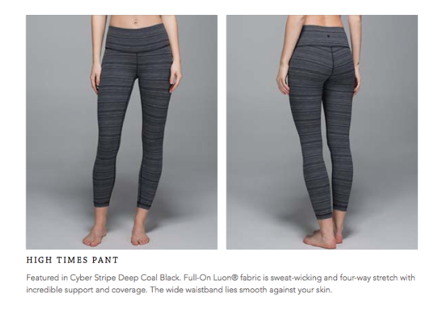 lululemon cyber stripe high times