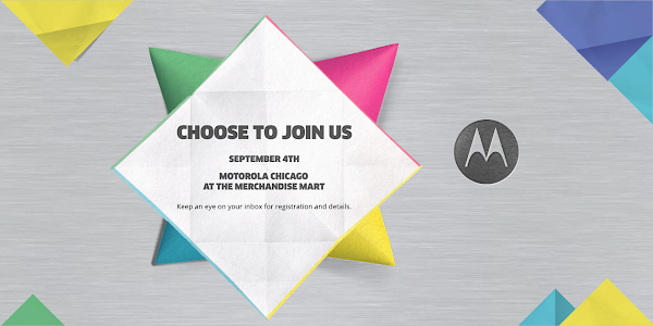 Motorola schedules event for September 4