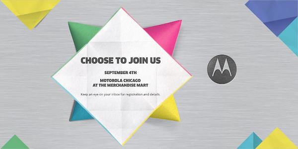 Motorola schedules event for September 4