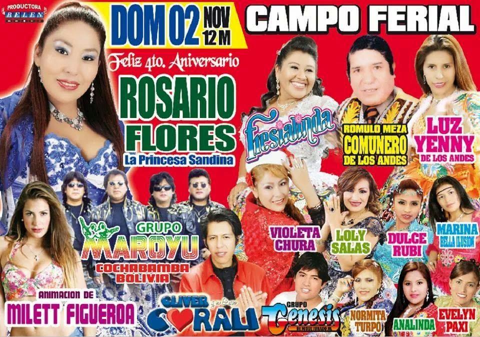 este domimngo 2 de noviembre con Rosario Flores en Juliaca