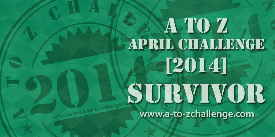 A to Z April 2014 Survivor