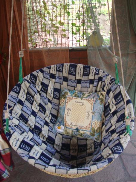 Гамак кресло из обруча своими руками 53