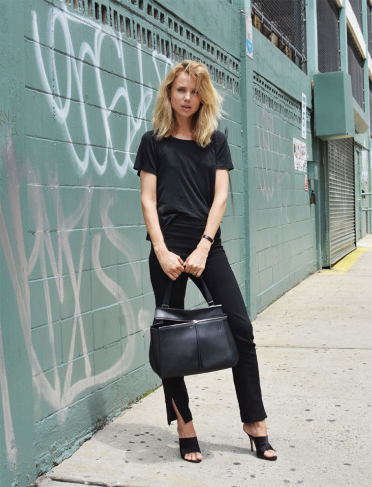 Elin Kling All Black Celine Crop Pants
