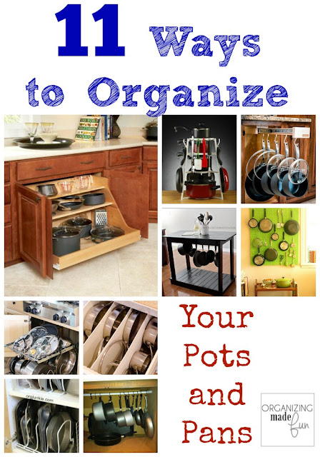 11 Ways to Organize Pots and Pans :: OrganizingMadeFun.com