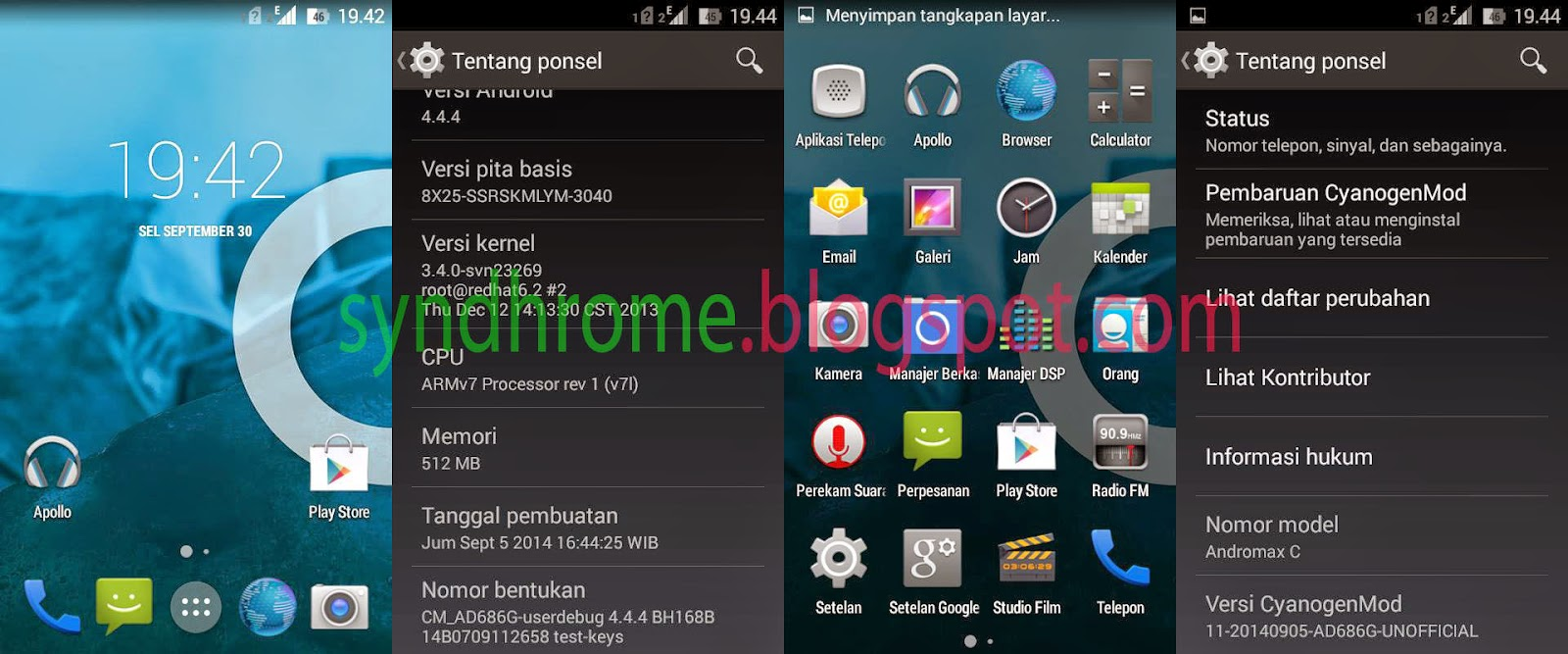 Install ROM Cyanogenmod 11 di Smartfren Andromax C Taerbaru | ROM Paling Fenomenal!