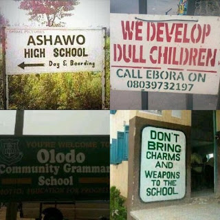 Would You Send Your Child to Any of this Schools; Ashawo High School or ....