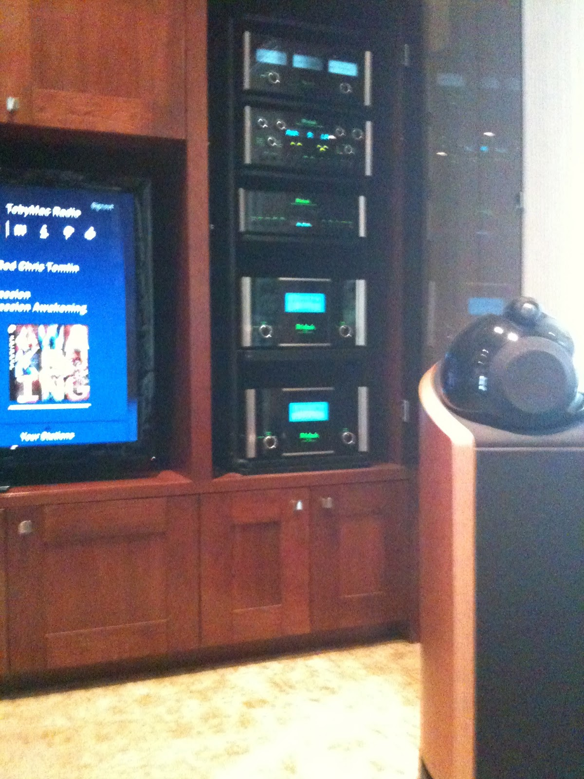 home theater rack. liberty bell alarm and home theater rack