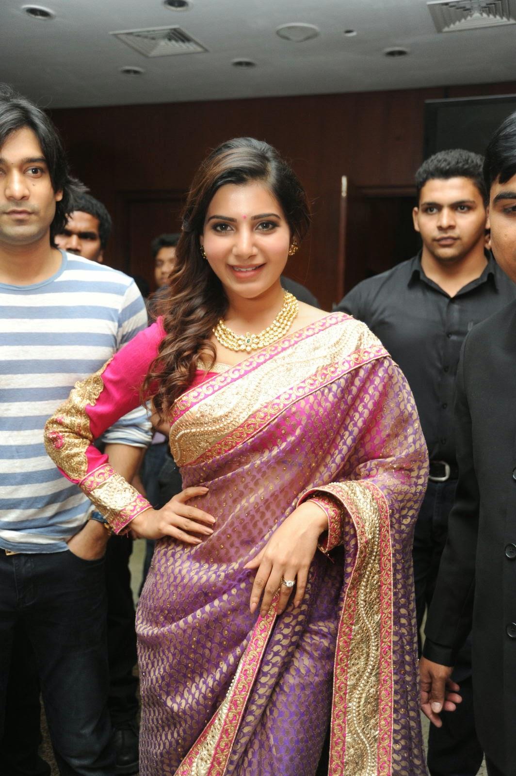 Samantha gorgeous photos in saree-HQ-Photo-17
