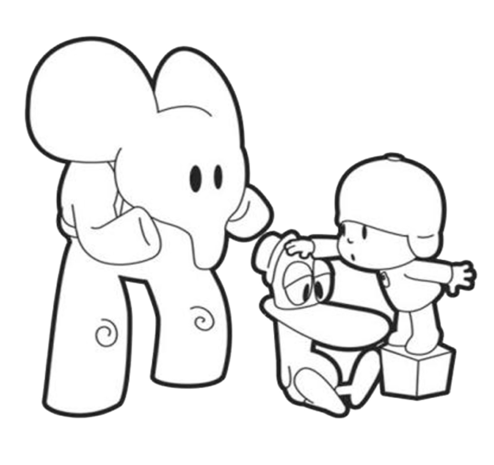 pocoyo coloring images - reverse search - Pocoyo Friends Coloring Pages
