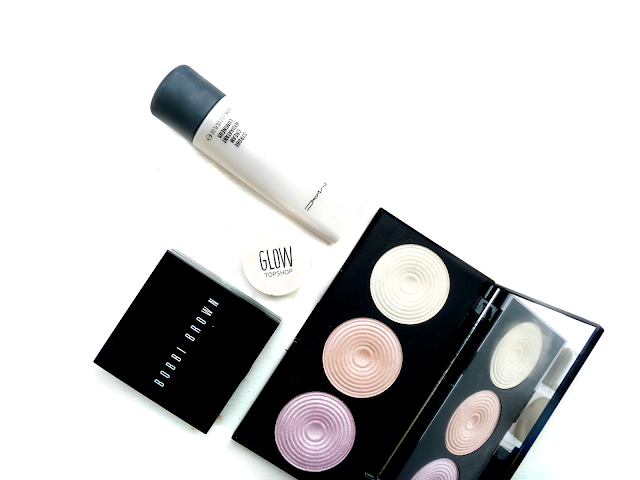 beauty, makeup, strobing, what is strobing, how to strobe, face, skin, Bobbi Brown, Shimmer brick, Topshop Glow, MAC, strobe cream, Makeup Revolution, highlighting palette, review, products