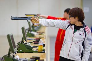 Kim Jangmi - Coréia do Sul - Pistola de Ar - Copa do Mundo ISSF de Carabina e Pistola