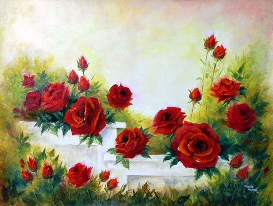 Red Rose - 2, painting by Sanika Dhanorkar (part of her portfolio on www.indiaart.com)
