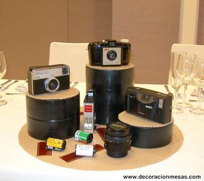 decoracion mesa 60 cumpleaños centro mesa fotografia