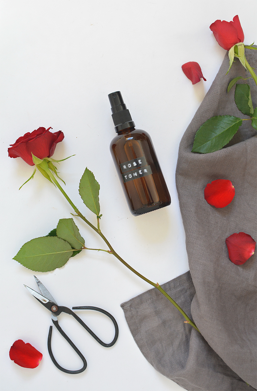 rosewater face toner DIY