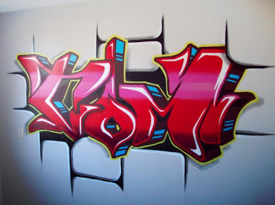 graffiti names pink